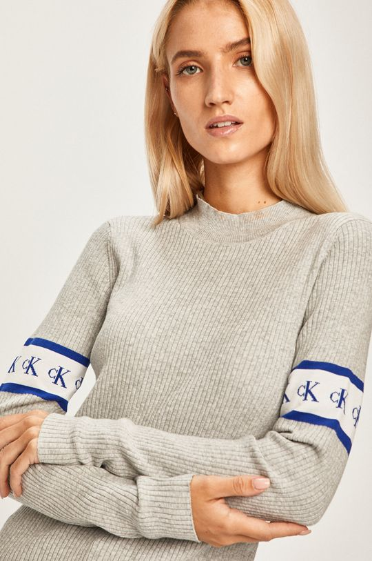 šedá Calvin Klein Jeans - Svetr