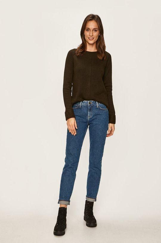 Vero Moda - Sweter oliwkowy