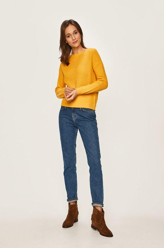Vero Moda - Sweter ciepły oliwkowy