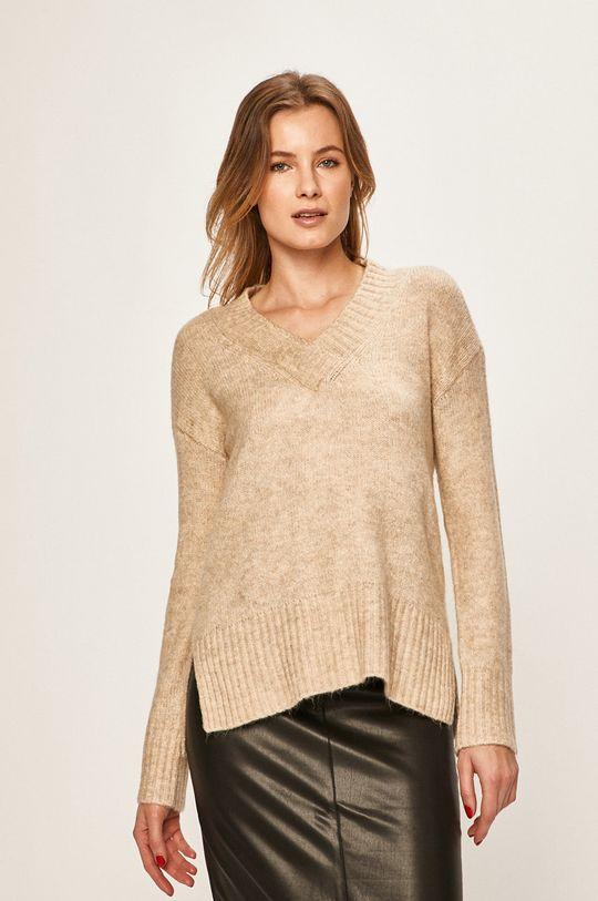 piaskowy Vero Moda - Sweter Damski