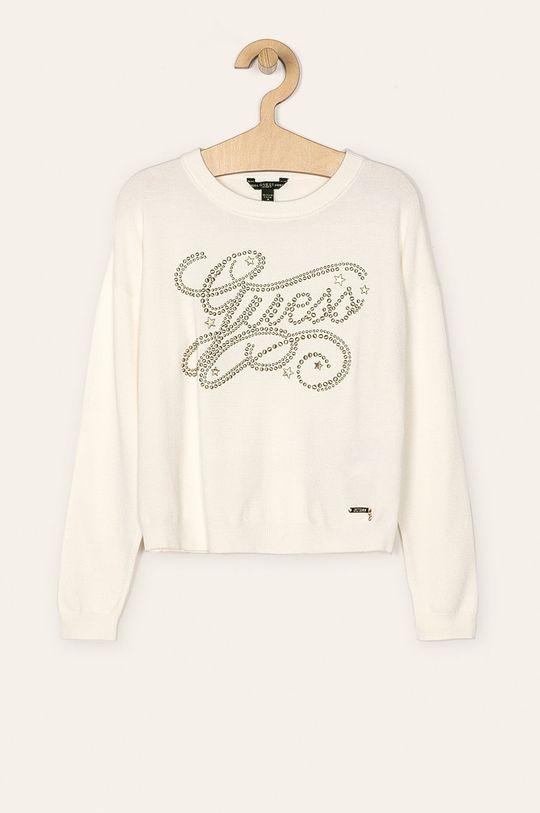 alb Guess Jeans - Pulover 118 - 175 cm De fete