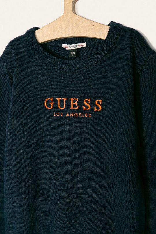 Guess Jeans - Детски пуловер 118-175 cm тъмносин