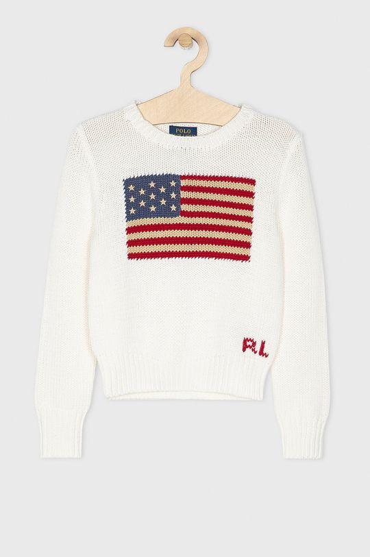 alb Polo Ralph Lauren - Pulover copii 128-176 cm De fete