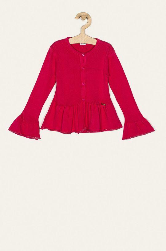 sýto ružová Blukids - Detský sveter 80-98 cm Dievčenský