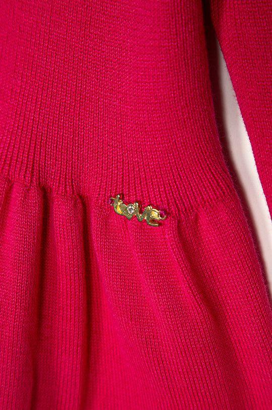 Blukids - Detský sveter 80-98 cm sýto ružová