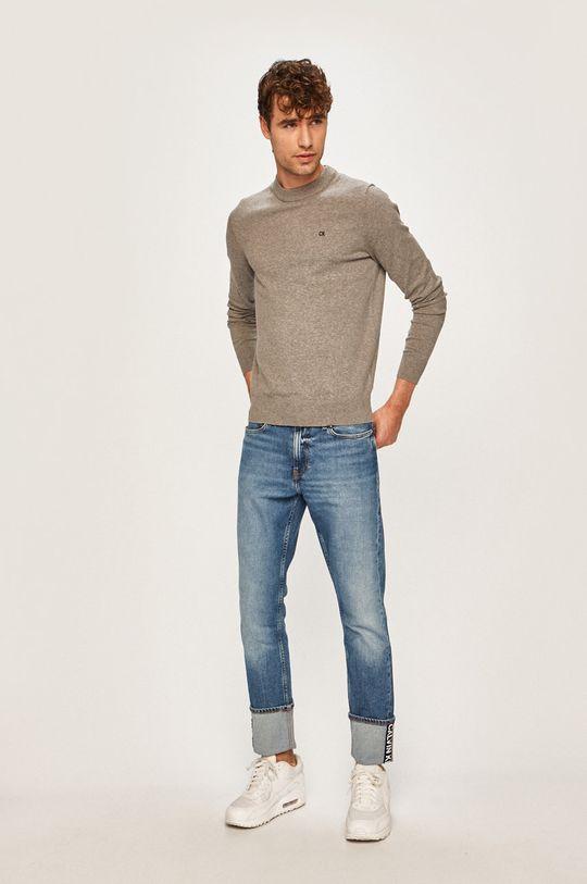 Calvin Klein Jeans - Svetr šedá
