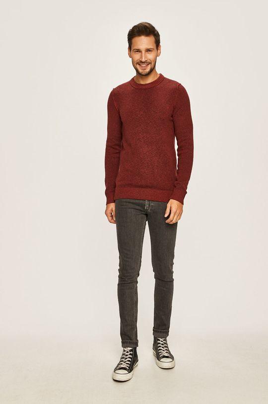 Jack & Jones - Sweter brązowy