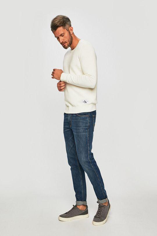 Calvin Klein Jeans - Pulover crem