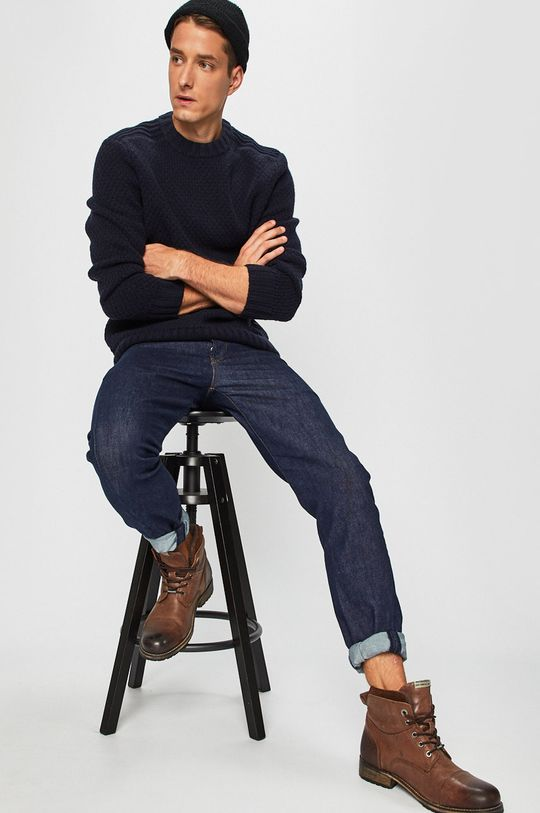 Calvin Klein Jeans - Pulover bleumarin