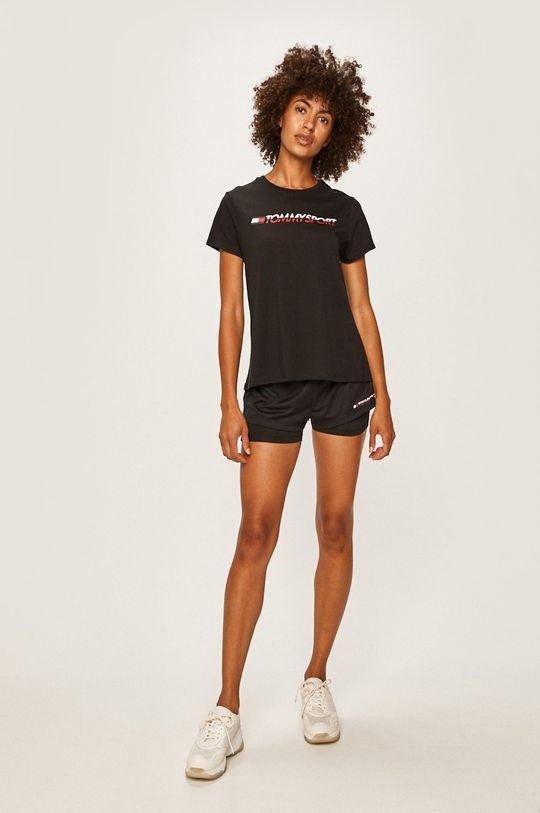 Tommy Sport - Pantaloni scurti negru