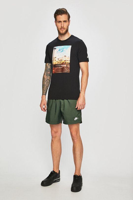 Nike Sportswear - Kraťasy ocelová zelená