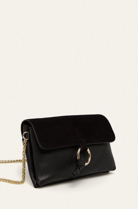 Pieces - Kožená kabelka  Podšívka: 100% Polyester Hlavní materiál: 70% Přírodní kůže, 30% Semišová kůže