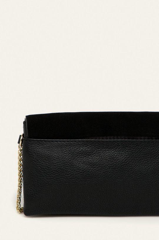 černá Pieces - Kožená kabelka