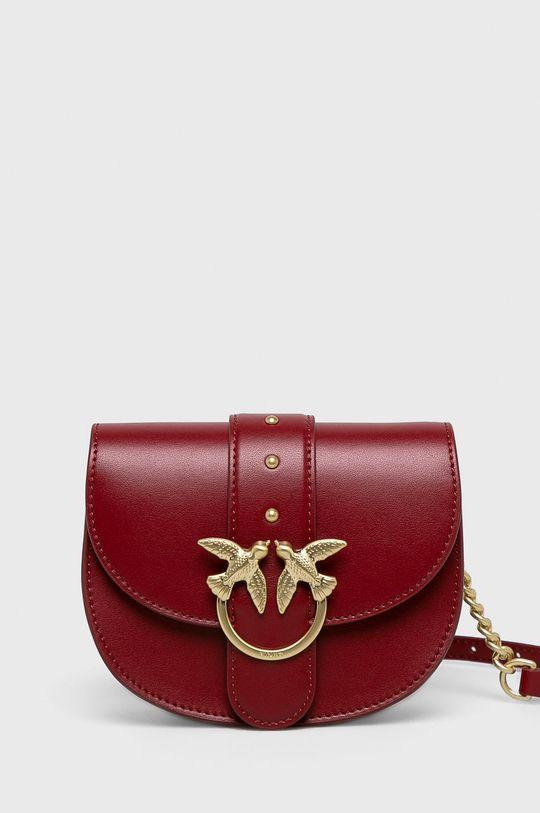 červená Pinko - Kožená taška Dámský