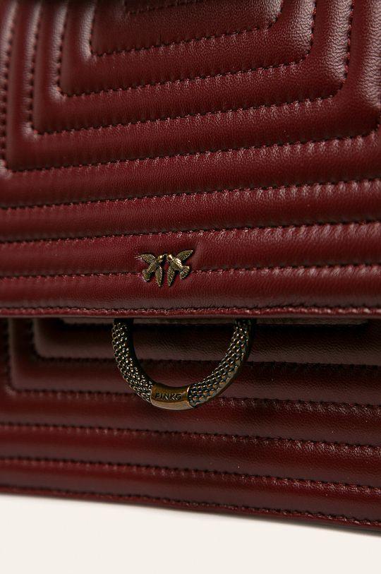 Pinko - Kožená kabelka kaštanová