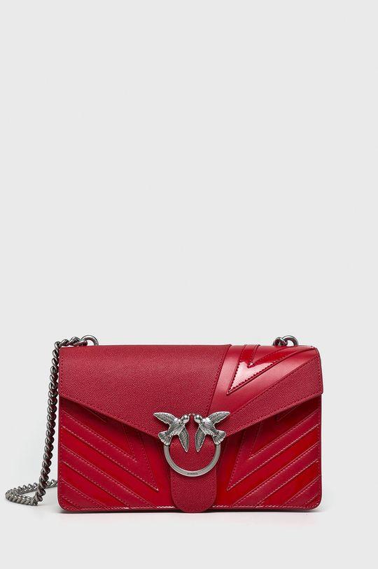 ostrá červená Pinko - Kožená kabelka Dámský