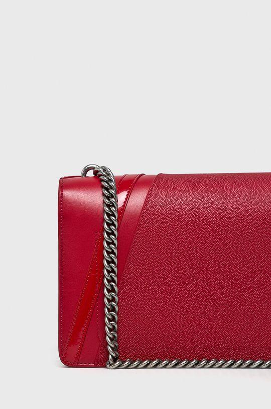 ostrá červená Pinko - Kožená kabelka