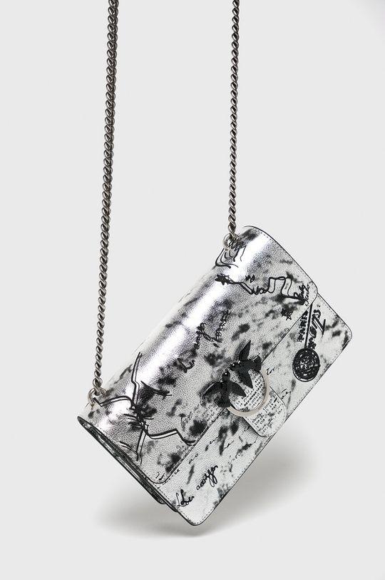 stříbrná Pinko - Kožená kabelka