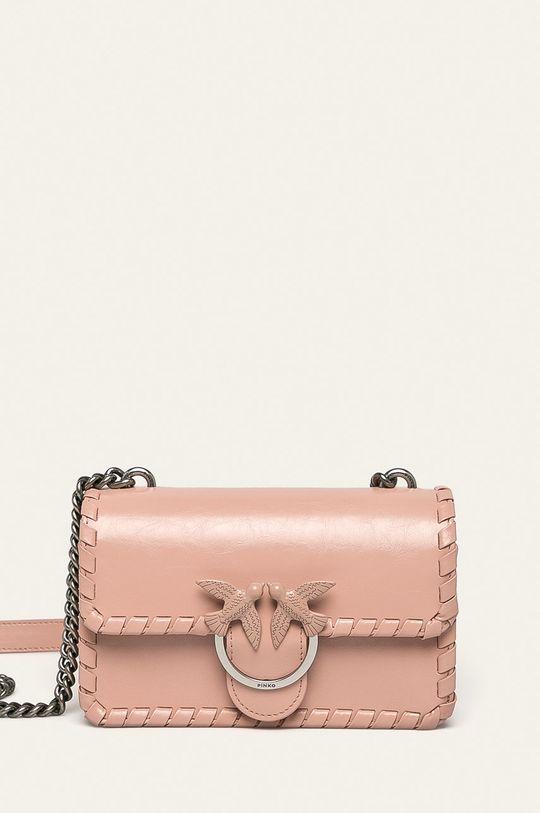 ružová Pinko - Kožená kabelka Dámsky
