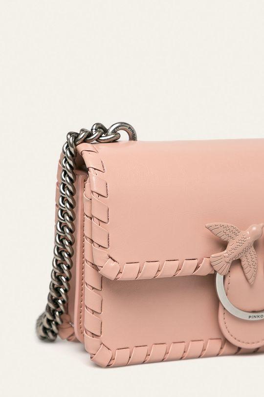 Pinko - Kožená kabelka ružová