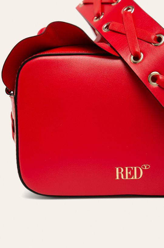 Red Valentino - Kožená kabelka červená