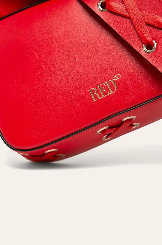 červená Red Valentino - Kožená kabelka