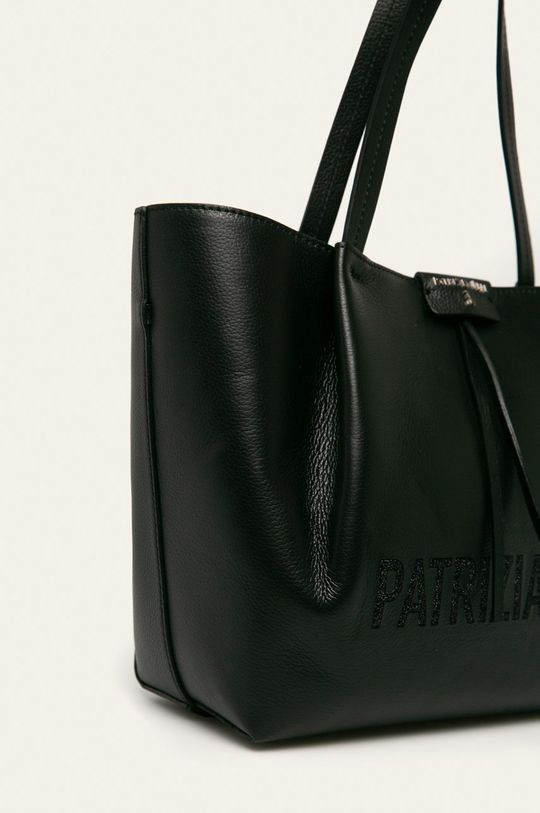 čierna Patrizia Pepe - Kožená kabelka