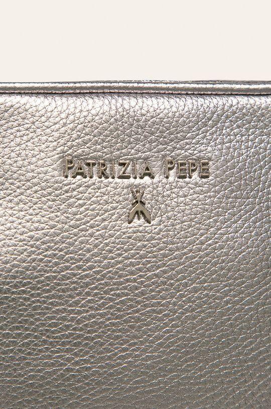 Patrizia Pepe - Kožená kabelka stříbrná