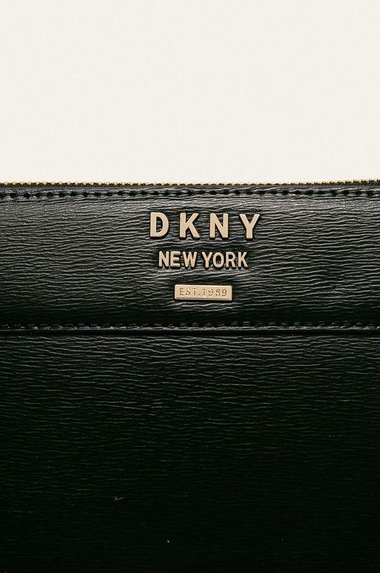 Dkny - Kožená kabelka čierna
