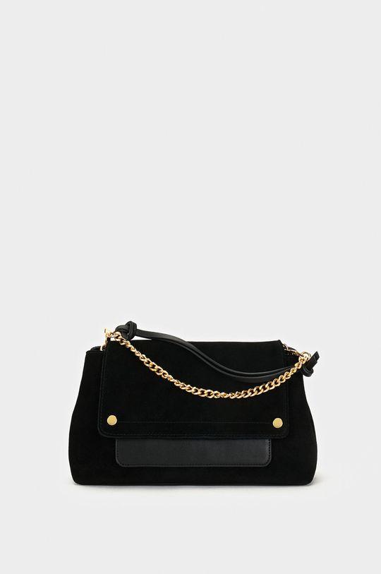 černá Parfois - Kožená kabelka Dámský