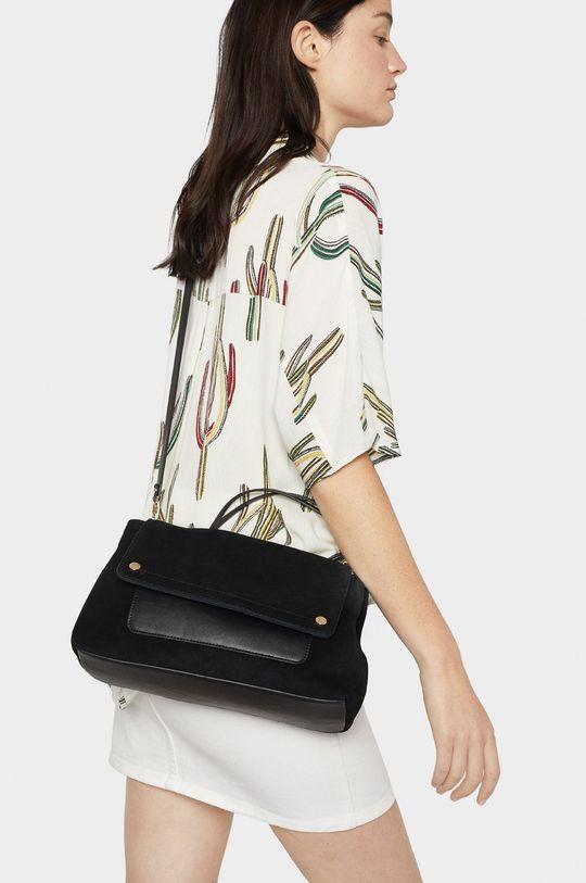 Parfois - Kožená kabelka černá