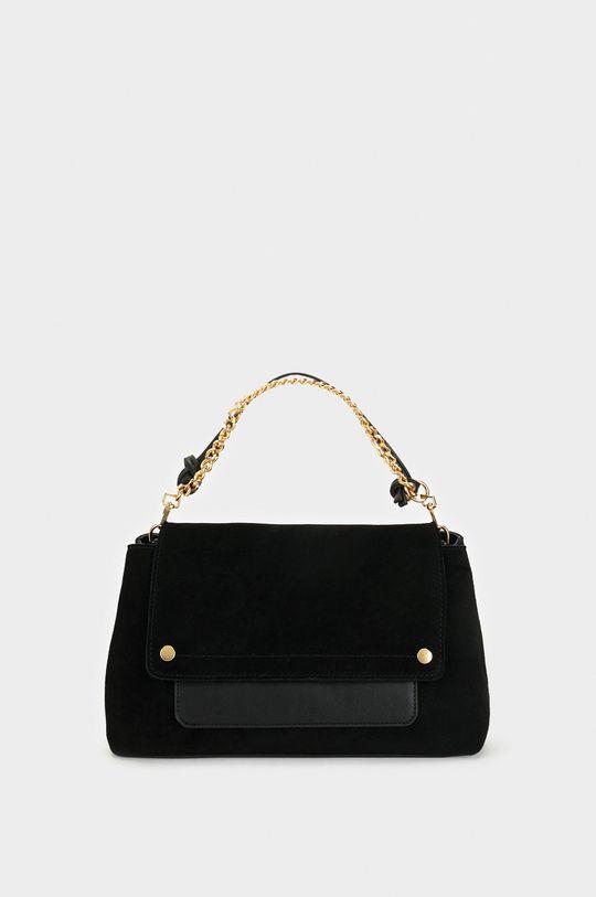 černá Parfois - Kožená kabelka