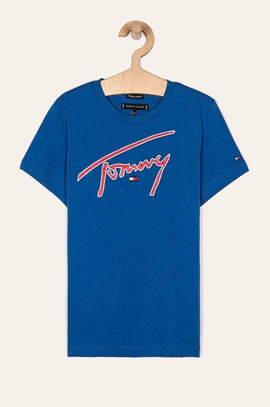 modrá Tommy Hilfiger - Detské tričko 128-176 cm Chlapčenský