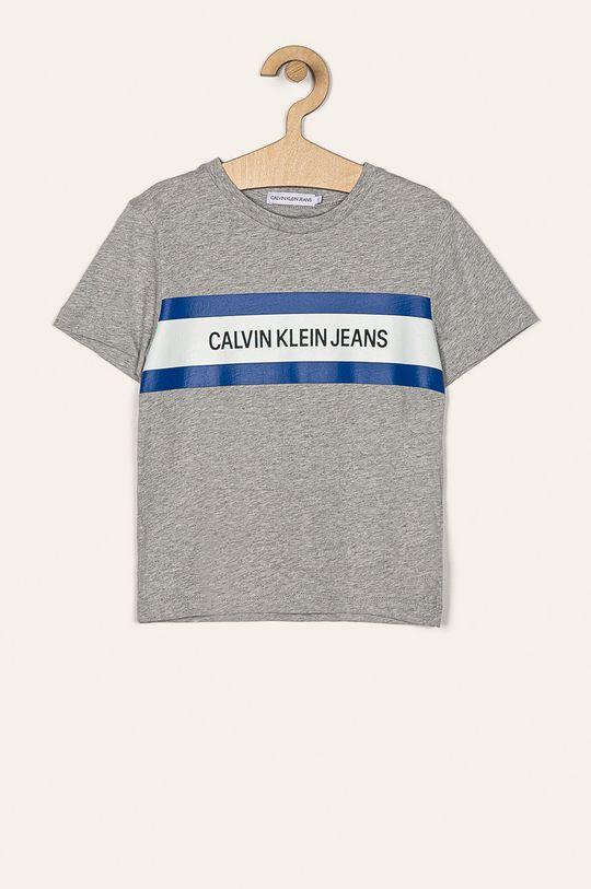 светлосив Calvin Klein Jeans - Детска тениска 104-176 cm Момче
