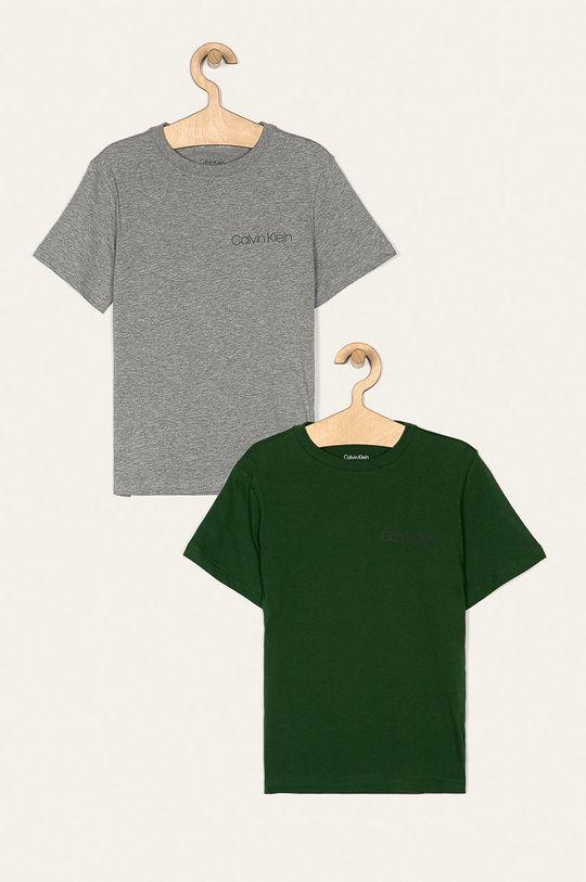 tmavozelená Calvin Klein Underwear - Detské tričko 128-176 cm (2 pak) Chlapčenský
