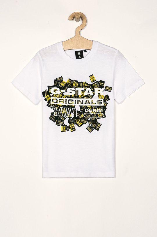 biela G-Star Raw - Detské tričko 128-176 cm Chlapčenský