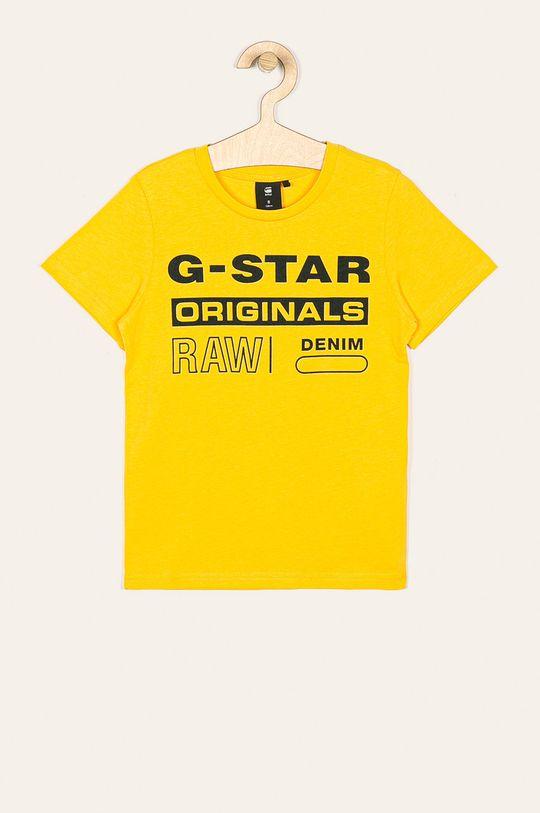 žltá G-Star Raw - Detské tričko 128-176 cm Chlapčenský