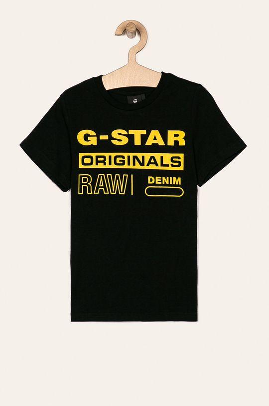 čierna G-Star Raw - Detské tričko 128-176 cm Chlapčenský