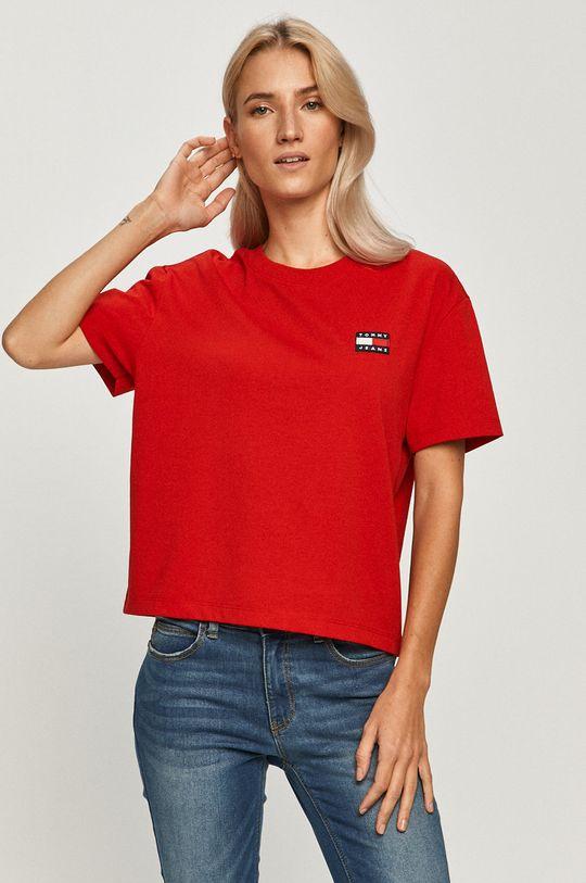 červená Tommy Jeans - Tričko Dámský