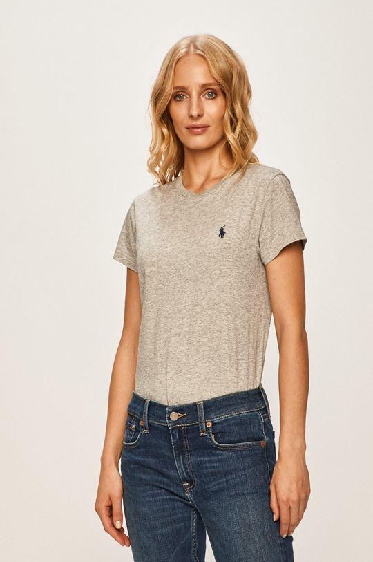 szary Polo Ralph Lauren - T-shirt Damski
