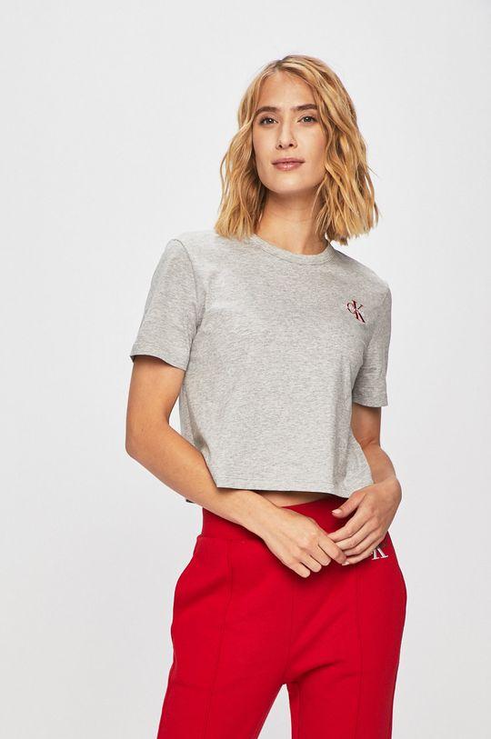 šedá Calvin Klein Jeans - Tričko Dámský