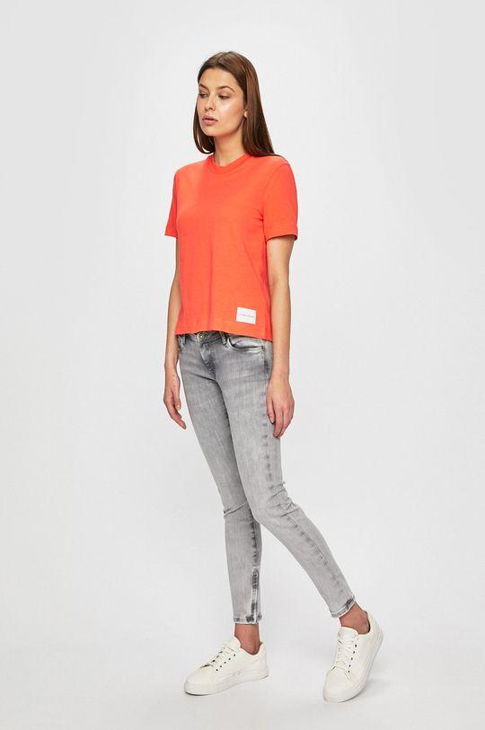 Calvin Klein Jeans - Top portocaliu