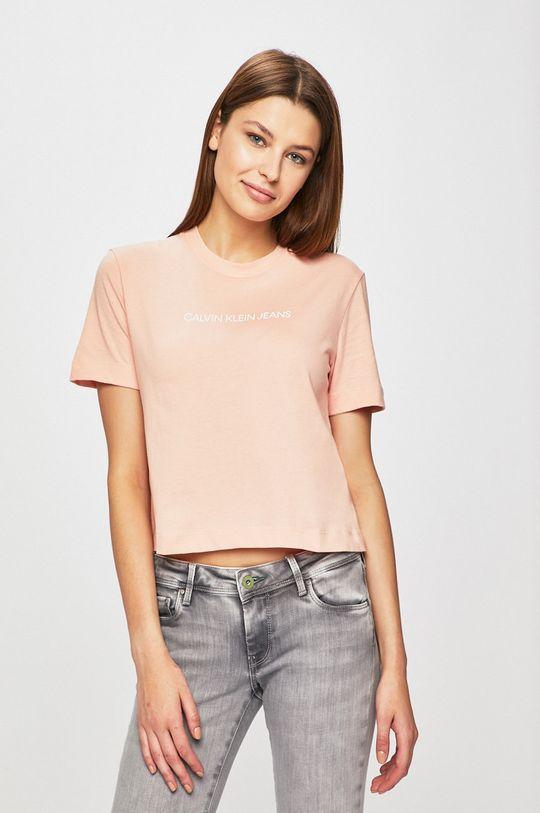 pastelově růžová Calvin Klein Jeans - Top Dámský