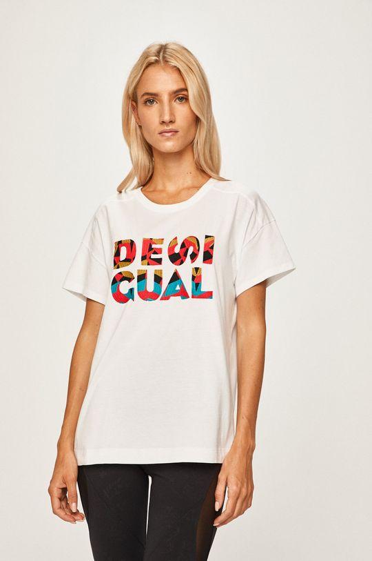 bílá Desigual Sport - Tričko Dámský