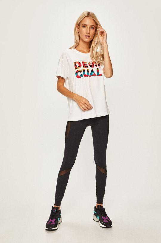 Desigual Sport - Tričko bílá