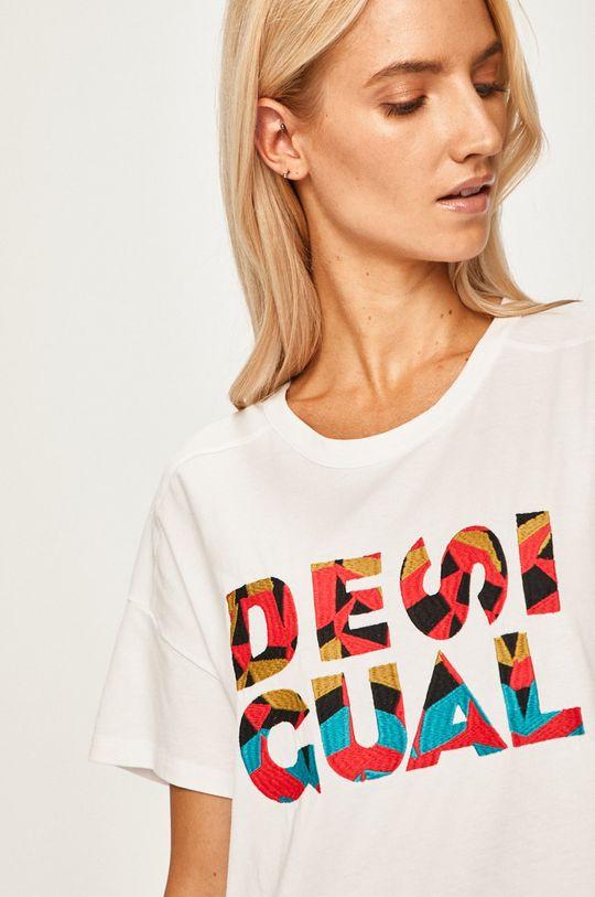 bílá Desigual Sport - Tričko