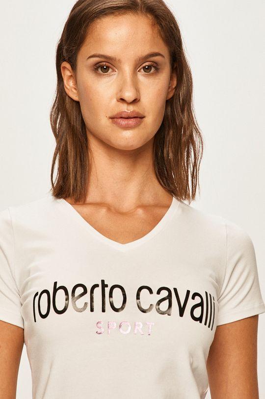 biały Roberto Cavalli Sport - T-shirt
