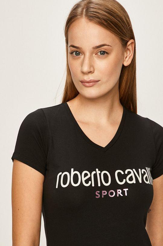 czarny Roberto Cavalli Sport - T-shirt