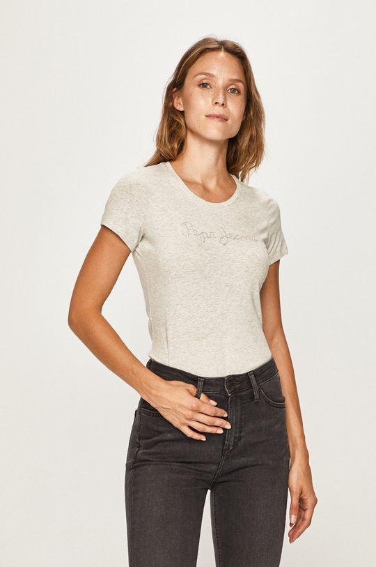 szary Pepe Jeans - T-shirt Mika Damski