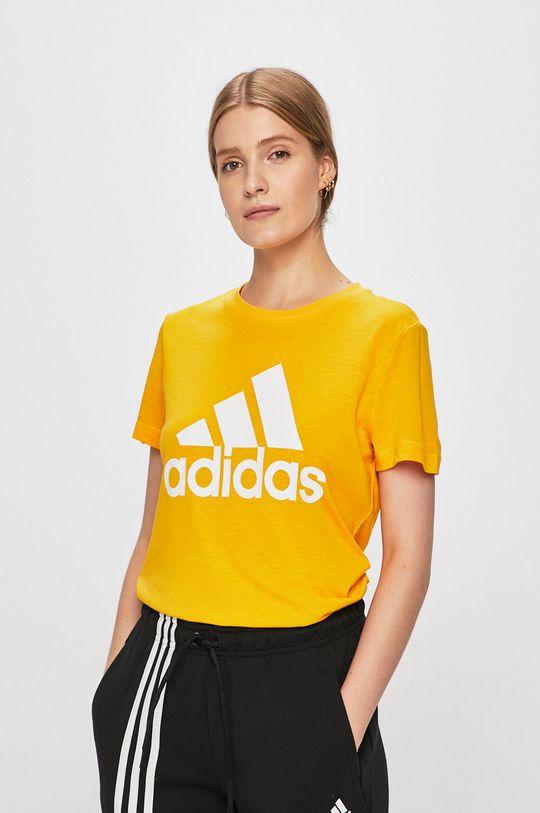 sárga adidas Performance - T-shirt Női
